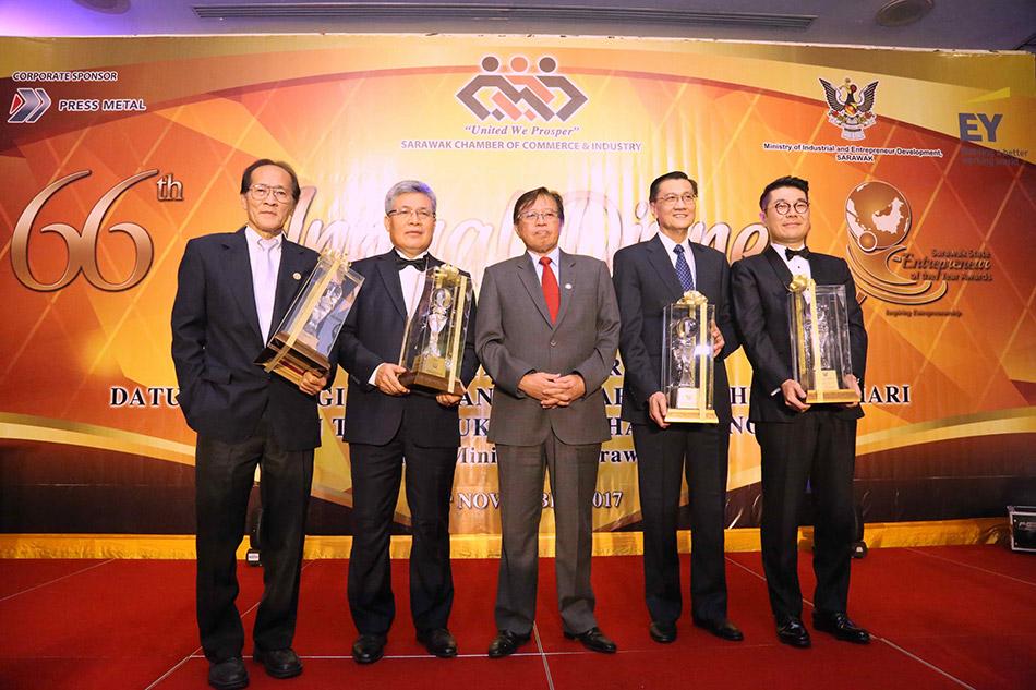 Sarawak Entrepreneur of the Year 2017 for Datuk Chew Chiaw Han
