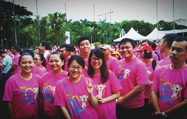 Charity Walk with Happy