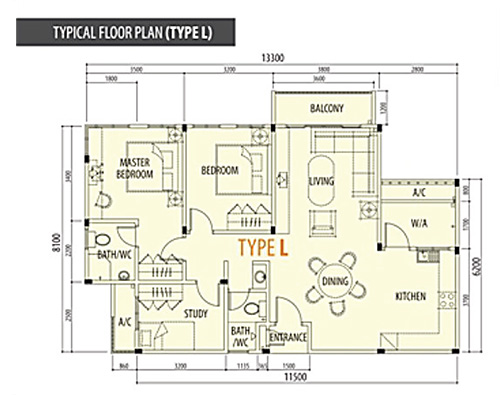 Typical Floor Plan (Type L)