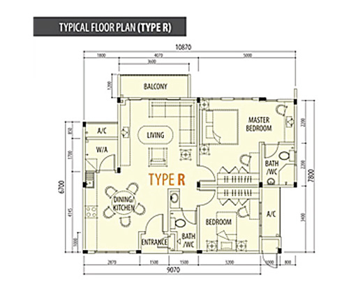 Typical Floor Plan (Type R)