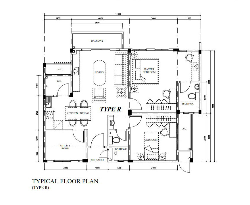 Typical Floor Plan Type R