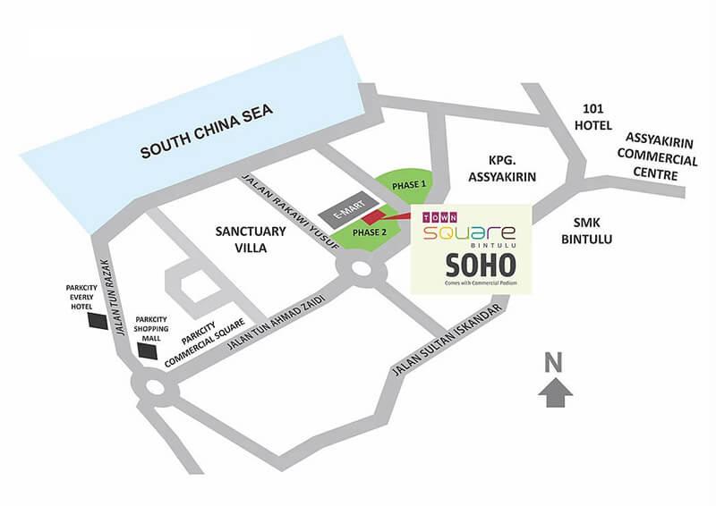 Town Square Bintulu Locality Plan