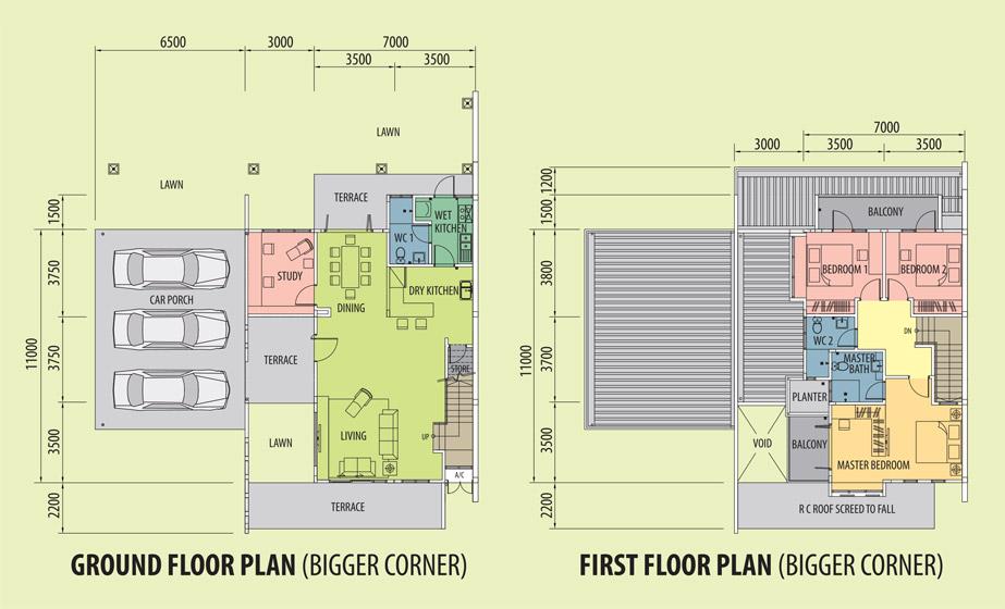 Bigger Corner Floor Plan