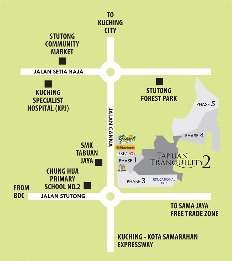 Tabuan Tranquility 2 Mellow Locality Plan