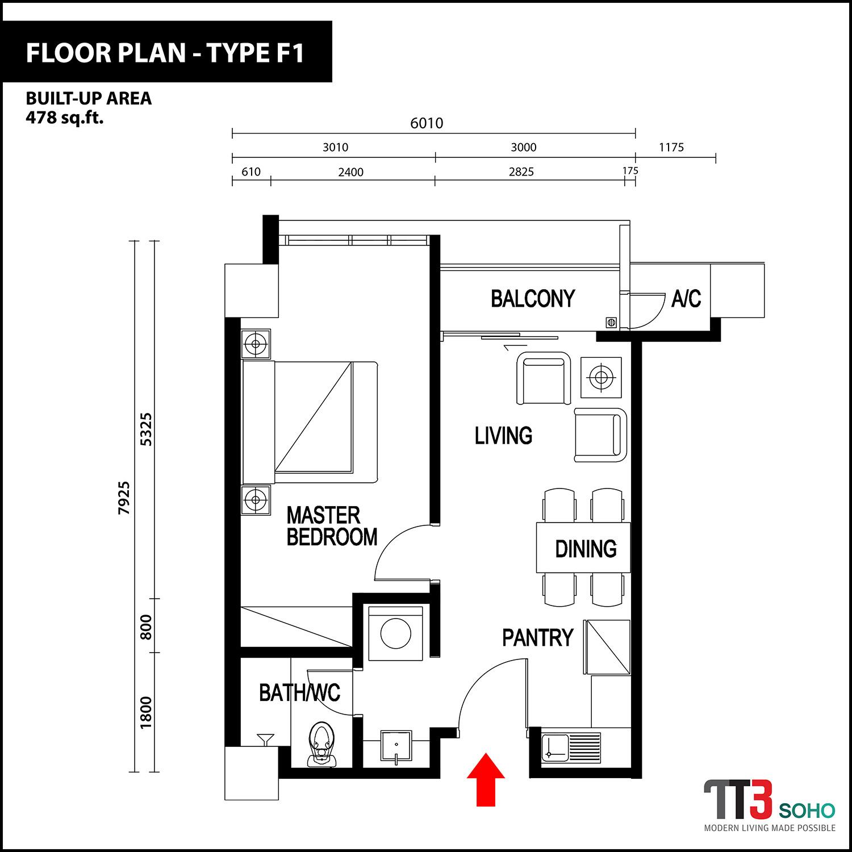 Tt3 Soho Apartment Floor Plans Ibraco Berhad Properties